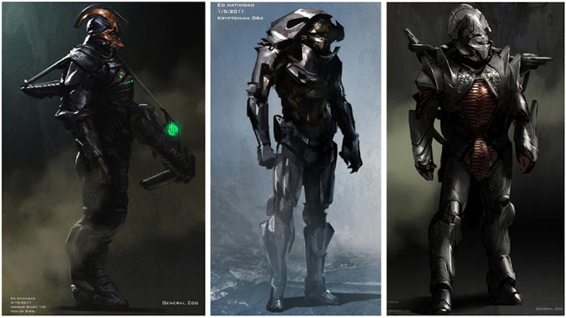 Illustration for article titled Man of Steel concept art puts Zod in more alien armor