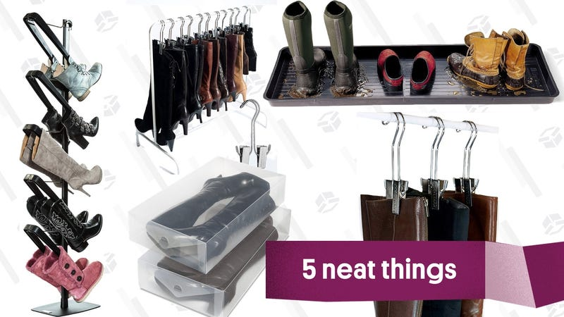 Illustration for article titled Five Storage Options That'll Get Your Boot Collection Under Control