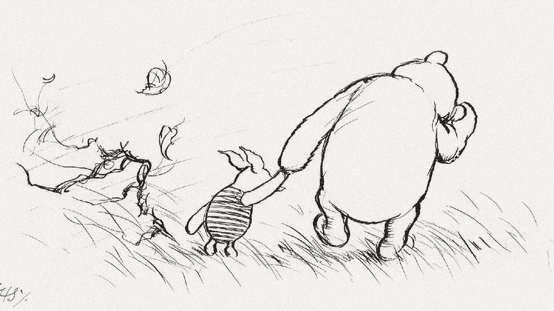 "E.H. Shepard's original illustration for "" The House At Pooh Corner"" (Image: Sotheby's)"
