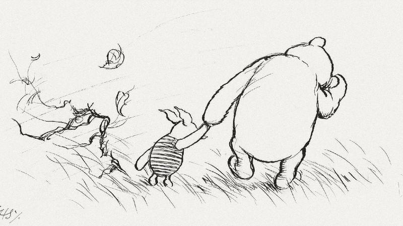 "E.H. Shepard's original illustration for "" The House At Pooh Corner"" (Image: Sotheby's)"
