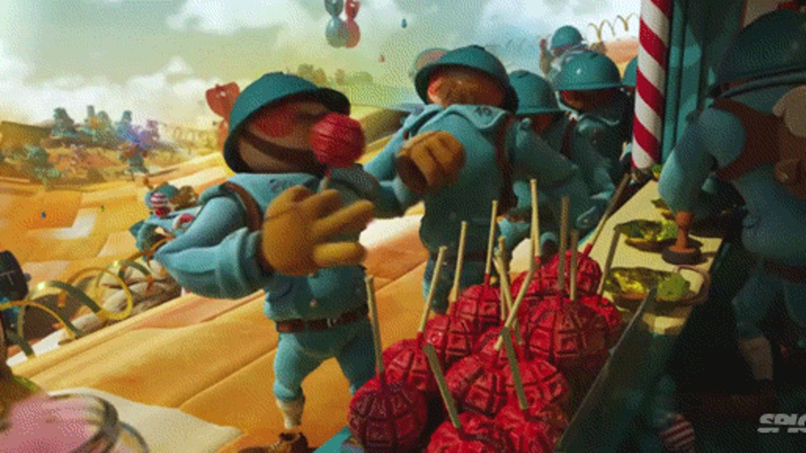 Short film: What happens when plastic toys go to war