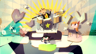 "Illustration for article titled Ringo Starr sings ""I Wish I Was a Powerpuff Girl"" in an animated video"