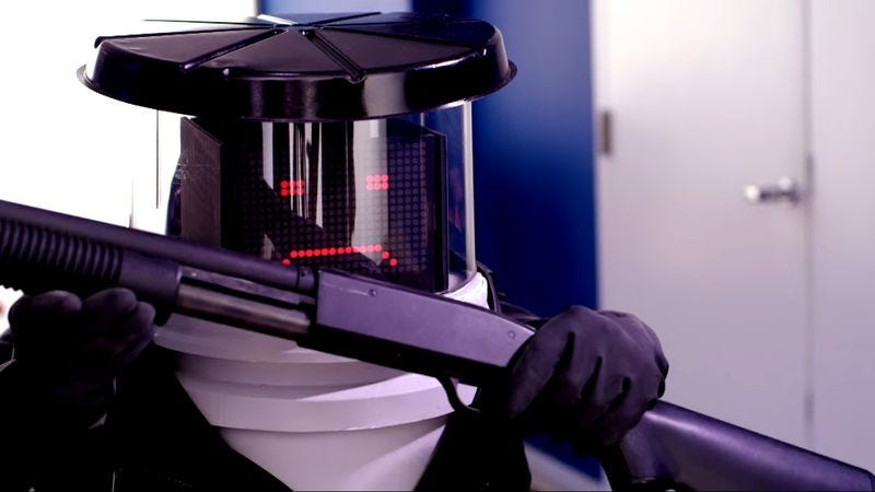 Illustration for article titled HitchBOT is avenged in this fake trailer for Coded To Kill