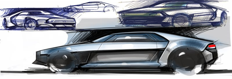 Illustration for article titled First quick sketches of a new DeLorean