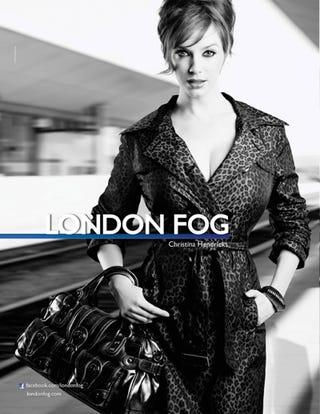Illustration for article titled Christina Hendricks As The Face Of London Fog