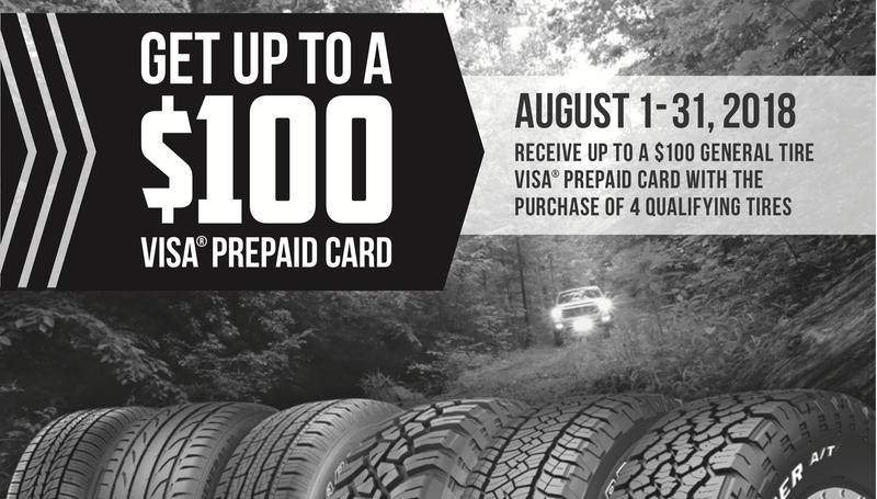 Hasta $100 de crédito al comprar llantas en General Tire | WalmartGráfico: General Tire