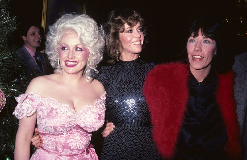 Dolly Parton, Jane Fonda, and Lily Tomlin at the New York premiere of 9 To 5