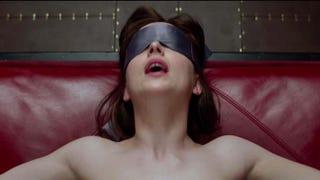 Dakota Johnson as Anastasia Steele in the film Fifty Shades of GreyFocus Features