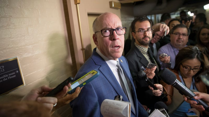 House Energy and Commerce Committee Chairman Rep. Greg Walden, R-Ore., surrounded by reporters on Capitol Hill in Washington on July 28, 2017.