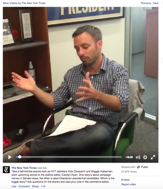 Two Problems With the New York Times Facebook Live Pitch Meeting