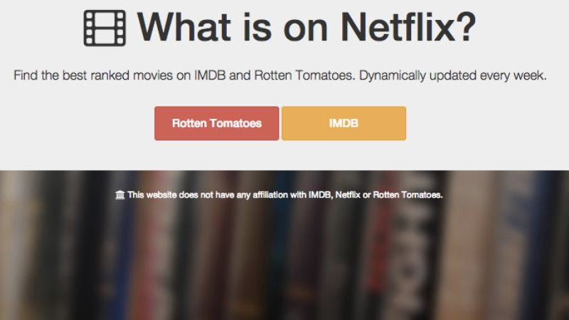 Illustration for article titled This handy website will help you decide what to watch on Netflix