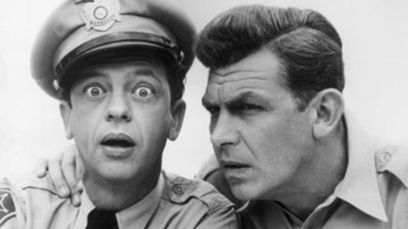 Illustration for article titled 20 wonderfully irrelevant Andy Griffith Show conversations
