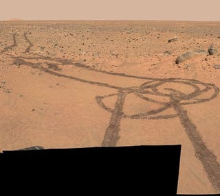 Illustration for article titled BREAKING MARS NEWS: CURIOSITY ROVER DRAWS A DICK