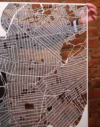 Illustration for article titled New York 'Map Cuts' Aren't for Traveling, But Sure Are Purdy