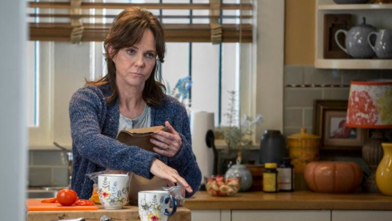 Sally Field, mentally counting down the days until she can be done with The Amazing Spider-Man