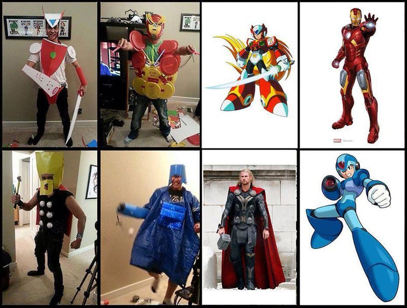 Illustration for article titled $5 Cosplay Challenge Ends In Hilariously Awful Costumes