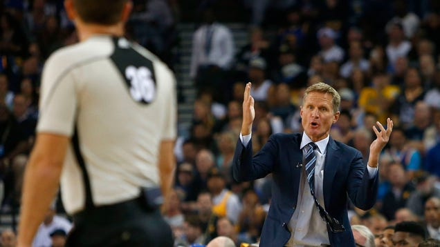 "NBA Fines Steve Kerr $25,000 For Offer To ""Literally Put T…"