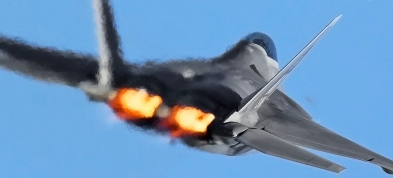the f 22 raptor bloodies its talons in first attack over syria