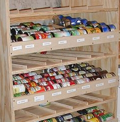 Build A Rotating Shelf To Keep Canned Goods At Hand