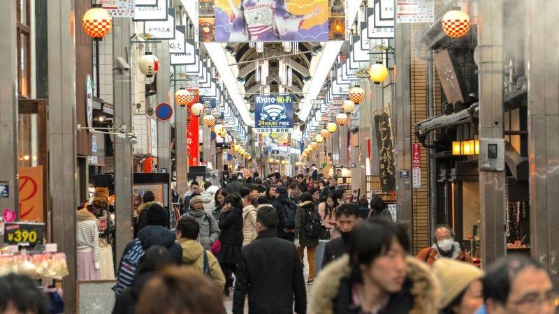 La zona comercial Nishiki Market en Kyoto, Japón. Imagen: Patrick Allen