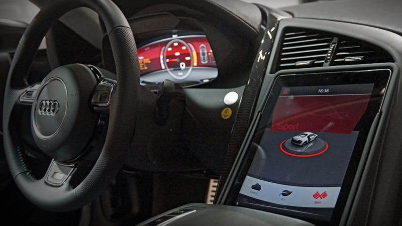 Illustration for article titled Audi's Electric R8 Concept Uses An iPad In Ways Other Cars Wish They Could