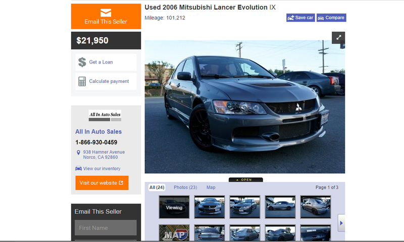 Illustration for article titled Mitsubishi Evo prices are stubbornly high.