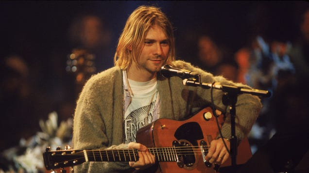 Kurt Cobain's unwashed MTV Unplugged sweater just sold for $334,000