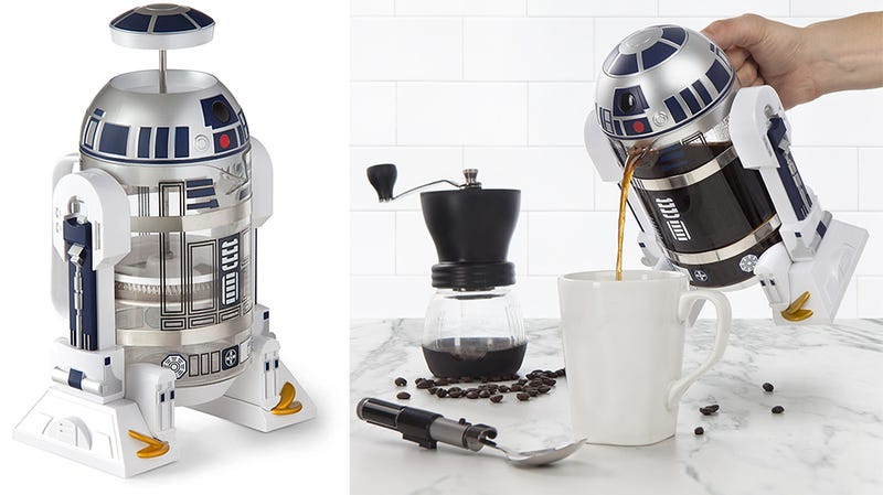 Illustration for article titled The Best Part of Waking Up Is This R2-D2 Coffee Press