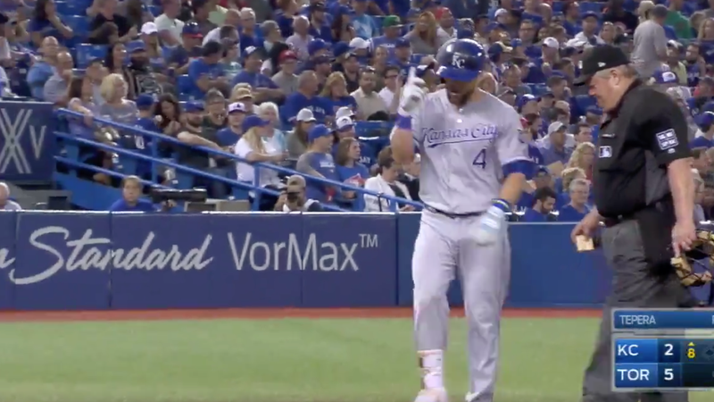 Alex Gordon hits MLB's record-setting 5694th home run of season