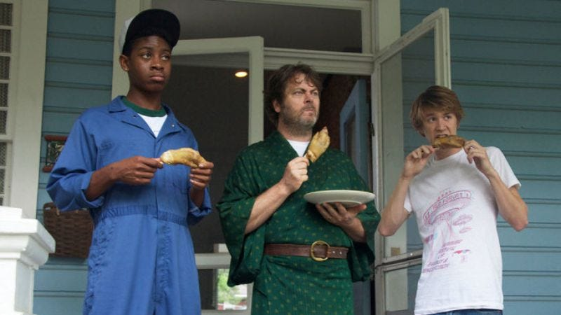 RJ Cyler (left) in Me And Earl And The Dying Girl