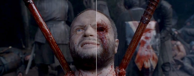 Illustration for article titled How they made the gore effects in the last season of Game of Thrones