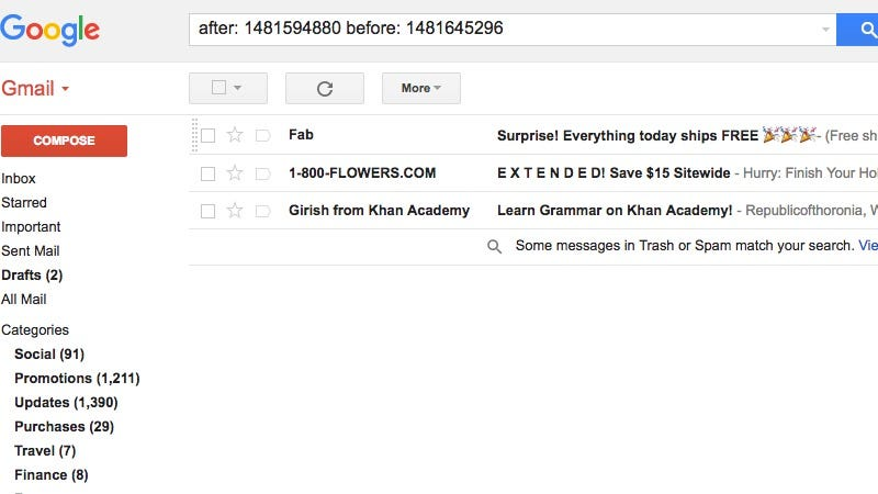 how to change date on gmail