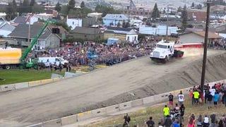 Real American hero jumps semi tractor 160 feet