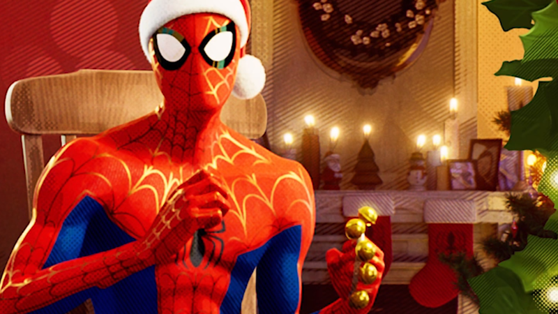 Happy holidays, from your favorite friendly neighborhood Spider-Man.