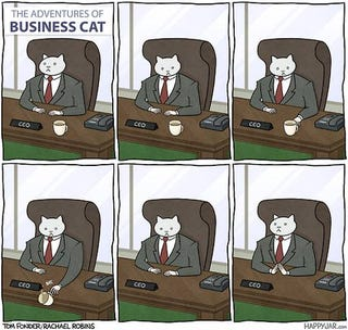 Illustration for article titled Business Cat Does Business