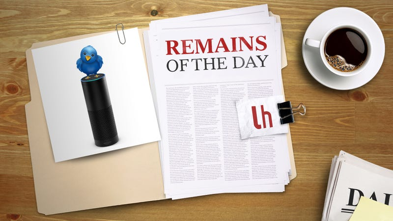 Illustration for article titled Remains of the Day: Twitter Launches an Amazon Alexa App