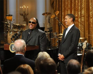 Illustration for article titled Stevie & Barack: Songs In The Glee Of Life