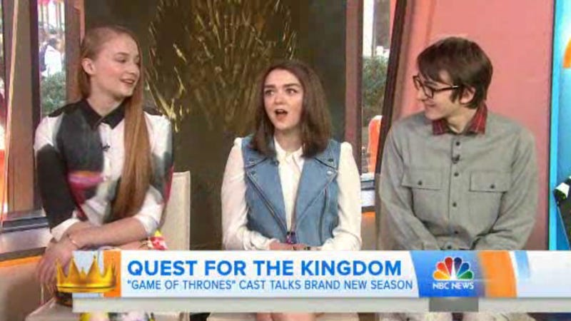 Illustration for article titled Sansa, Arya and Bran Stark Sure Are Looking Very Grown Up These Days