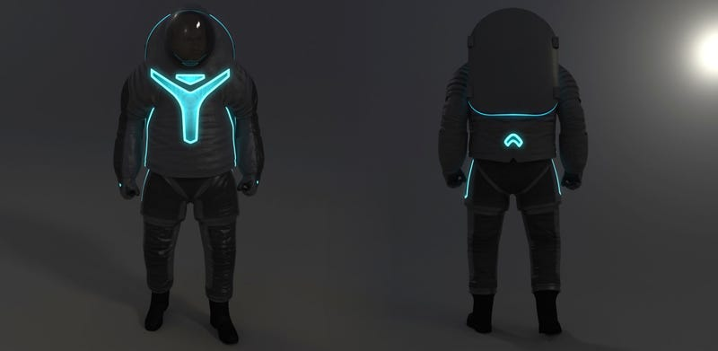 Illustration for article titled NASA reveals its next generation Tron spacesuit