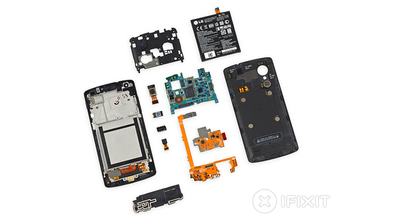 Illustration for article titled Nexus 5 Teardown: (Almost) No Glue For You