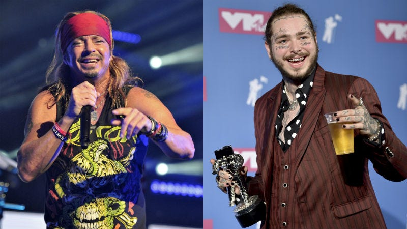 Illustration for article titled Bret Michaels Mansplains Private Jets to Post Malone