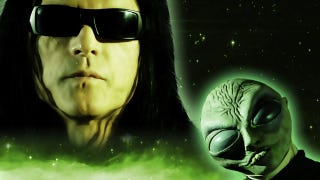 Illustration for article titled Tommy Wiseau of The Room tantalizes us with cryptic clues about his extraterrestrial video game show