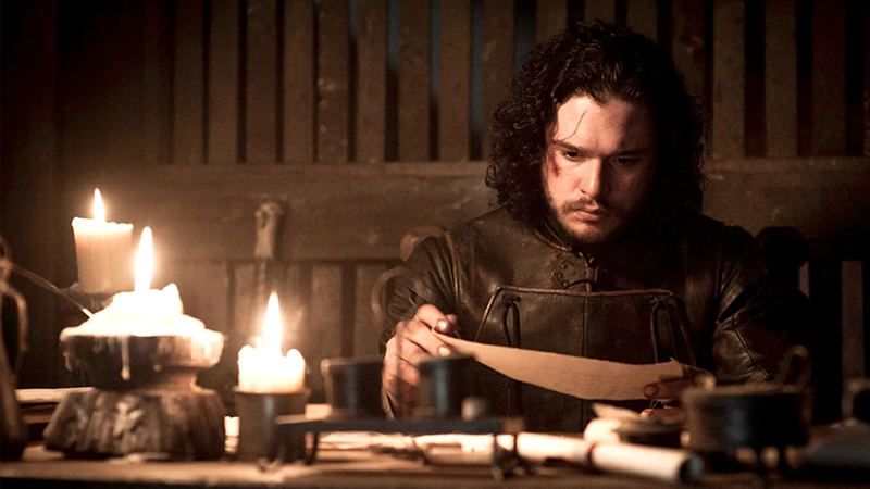 "In ancient times, actors could read Game of Thrones scripts by candlelight on a physical material known as ""paper,"" but not anymore."