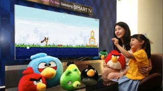 Illustration for article titled Motion Controlled Angry Birds Are Flinging onto Samsung TVs