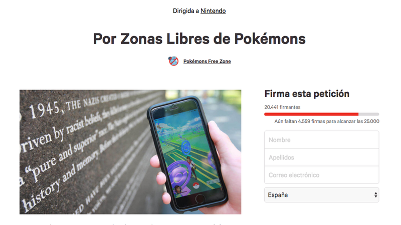 Imagen: Pokémons Free Zone / change.org