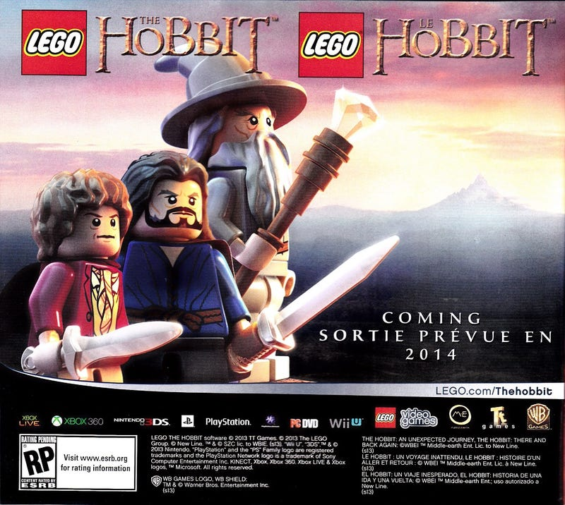 Illustration for article titled LEGO The Hobbit Game Rumored for 2014 Release