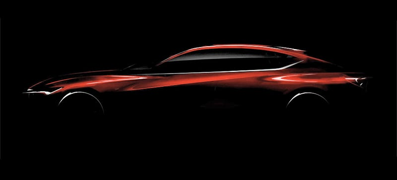Illustration for article titled The Next Acura Sedan Design Has Hips And I'm Intrigued
