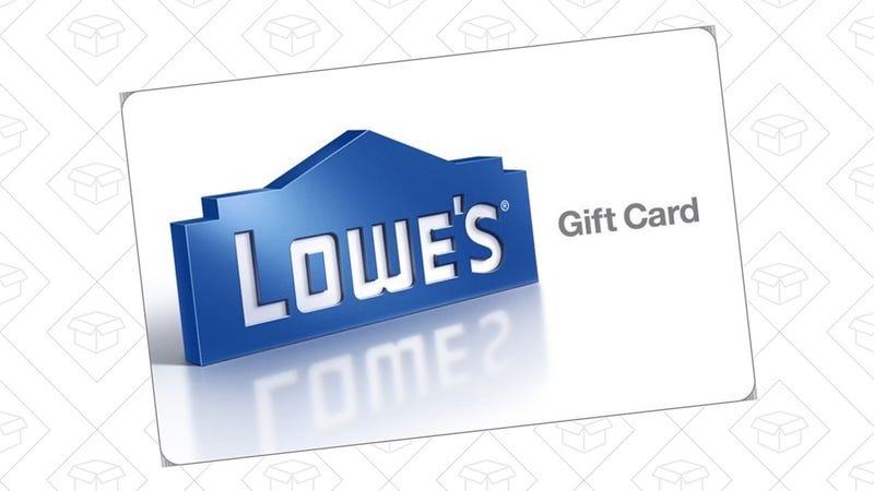 $100 Lowe's Gift Card, $90. Limit three per customer.