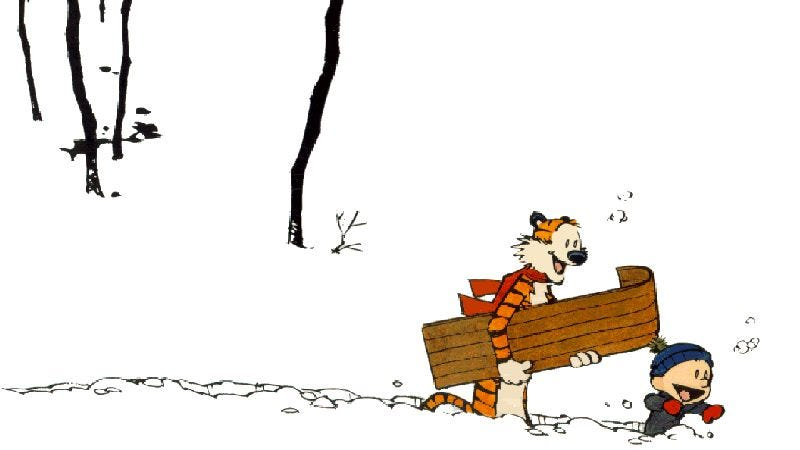Illustration for article titled A classic Calvin And Hobbes strip gets fully animated