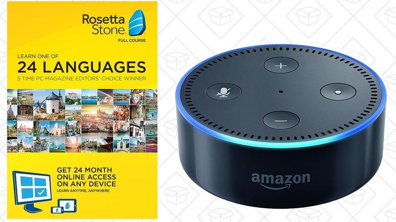 Rosetta Stone 24 Months + Echo Dot, $179